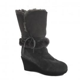 New Zealand Boots Wedge cognac