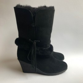 New Zealand Boots Wedge black outlet