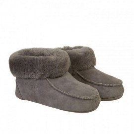 New Zealand Boots Folded slipper cognac